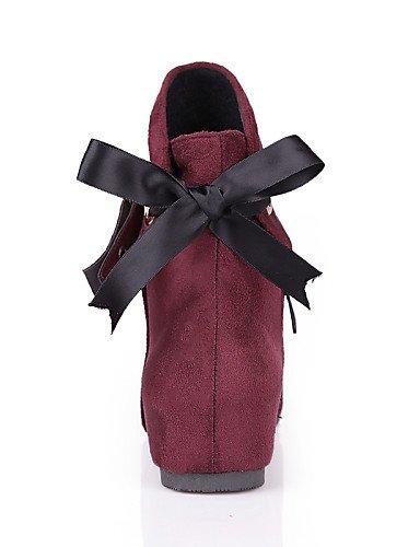 XZZ  Damenschuhe - Stiefel - - - Kleid   Lässig - Vlies - Keilabsatz - Wedges   Stifelette   Rundeschuh   Modische Stiefel -Schwarz   Blau   Grün B01L1GN3N2 Sport- & Outdoorschuhe Einfaches Leben 3805bb