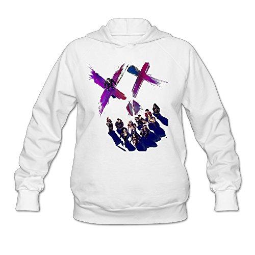 [Wesley Suicide Squad Team Wen's Fashion Fleece Hoodie White XXL] (Lone Ranger Costume Shirt)
