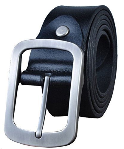 Casual Square Buckle (Galsang Vintage Leather Retro Men's Square Buckle Belts#ip2014007 (49 in,)