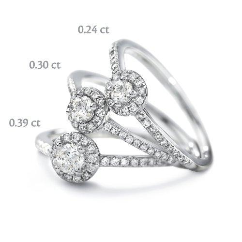 Tous mes bijoux - BADO01048 - Bague Solitaire Femme - Platine 2.41 gr - Diamant 0.39 cts