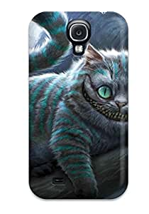 Ultra Slim Fit Hard Dennis Riffle Case Cover Specially Made For Galaxy S4- Cheshire Cat