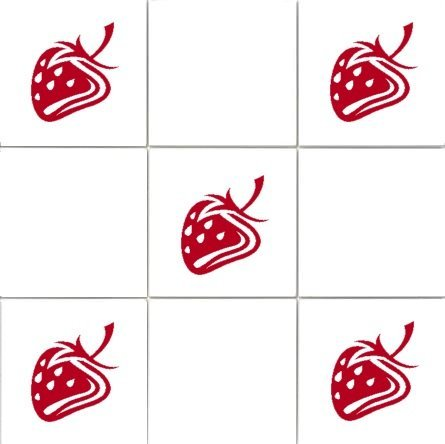 'Strawberries' Kitchen Tile Sticker Set x36 stickers (RED) Vinylworld 290829090852