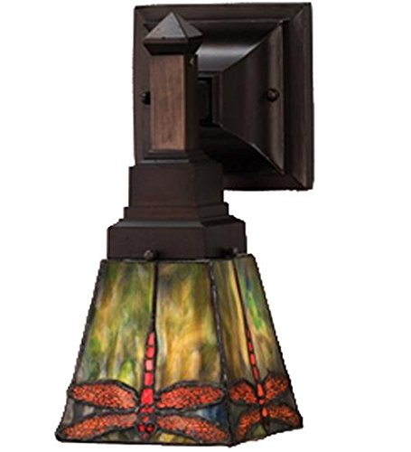 Meyda Tiffany 48187 Prairie Dragonfly Wall Sconce, 5