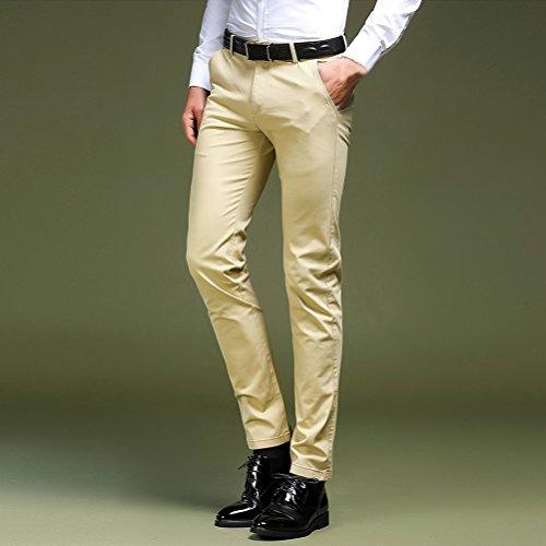 Business Fit Pants Cerimonia Per Festa Beige 40 Uomo Slim Dress Pantaloni Chino Elegante Zhhlaixing Abito 30 Da z0OB4qw