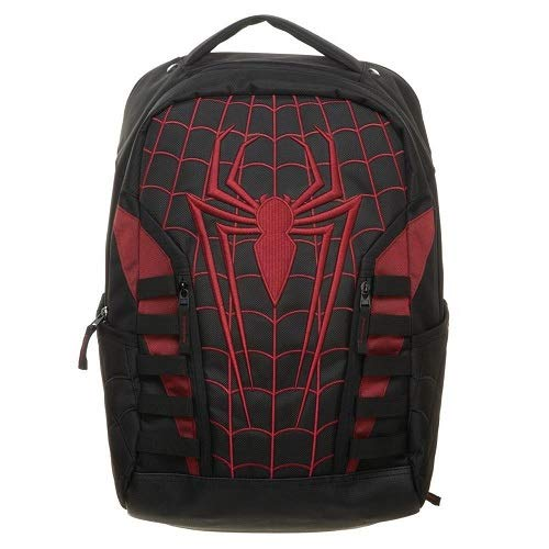 Marvel Bioworld Universe - Spiderman Miles Morales Into The Spider-Verse Built Up Backpack with Laptop Pocket