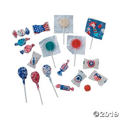 Bulk Patriotic Candy Assortment (1,000 pieces) for Fourth of July - Bulk Candy by Fun Express (Image #2)