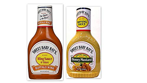 - Sweet Baby Ray's Dipping Sauce & Buffalo Wing Sauce Variety Bundle, 14-16 fl oz (Pack of 3) includes 2-Bottles Honey Mustard Dipping Sauce + 1-Bottle Buffalo Wing Sauce