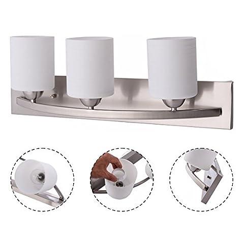 New 3 Light Glass Wall Sconce Modern Pendant Lampshade Fixture Vanity Metal Bathroom - Maple Three Pendant Light