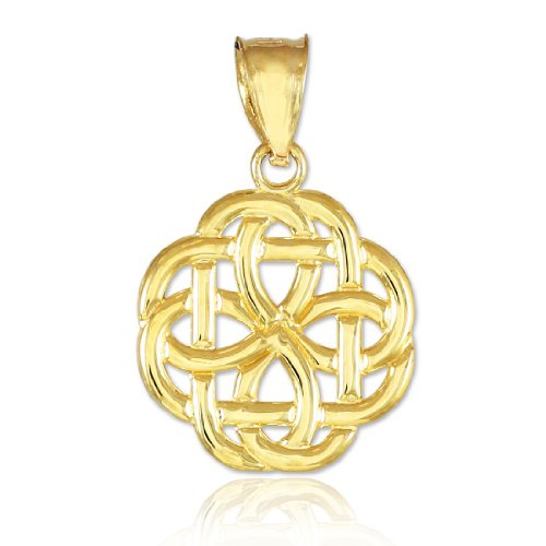 Celtic Womens Charm - 14k Gold Triquetra Celtic Trinity Charm Pendant
