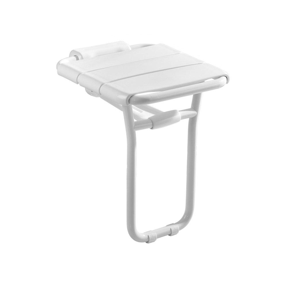 バスルーム折りたたみ椅子バスタブ椅子壁の椅子バススツール廊下浴室シャワー壁の靴ベンチ (色 : 白) B07DFDF2S1 白 白