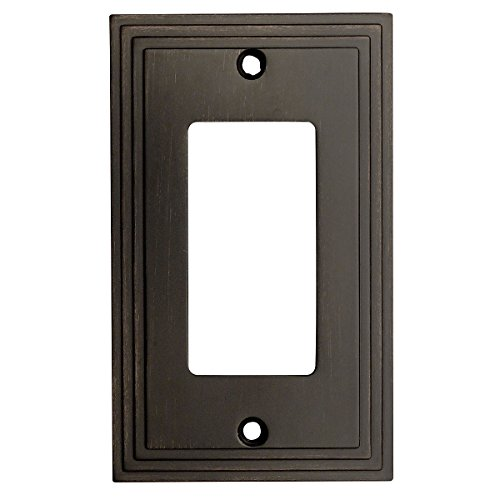 Cosmas 25000-ORB Oil Rubbed Bronze Single GFI / Decora Rocker Wall Switch Plate Switchplate Cover Switchplates Accessory