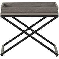 Flamant Montella Side Table, Gray Washed Oak