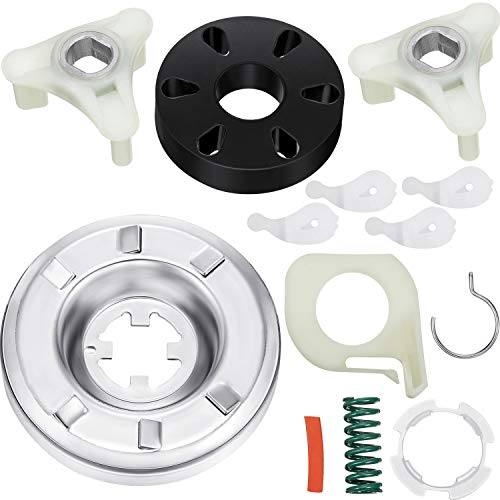 285785 Washer Clutch Kit and 285753A Motor Coupling Kit Including 4 Pieces 80040 Washer Agitator Dog, Compatible with Kenmore Washer (Washer Kenmore Clutch)