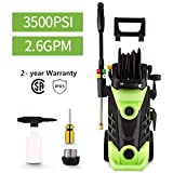 Homdox 3500 PSI Electric Pressure Washer, 2.6 GPM Electric Power Washer, 1800W High
