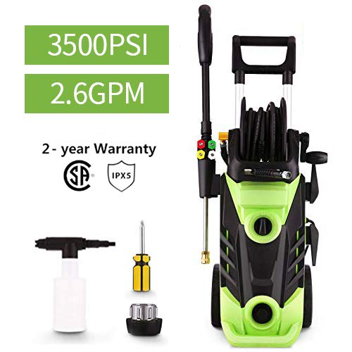 Homdox 3500 PSI Electric Pressure Washer, 2.6 GPM Electric Power Washer, 1800W High Pressure Washer, Professional Washer Cleaner with Hose Reel and 4 Nozzles