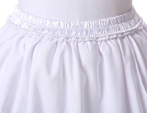 Mitchell Mujeres Falda Corto 6 Capa de Gasa Tul A-linea Cintura El¨¢stica Verano Tut¨² Skirt Princesa de Multilayer Tul Bouffant Falda Burgundy