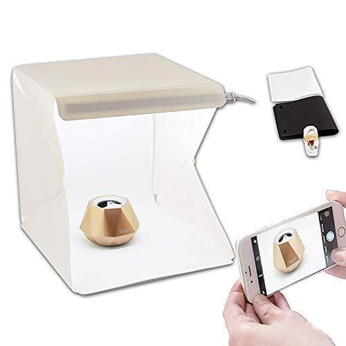 SHINENG Portable Mini Photo Studio With LED Light - Small Folding Product Lighting Kit Light Box Tent(White)