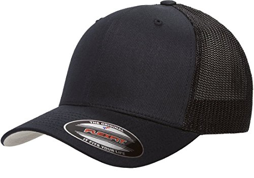 Flexfit 6511 Trucker Mesh Cap w/THP No Sweat Headliner Bundle Pack Cotton Trucker Cap