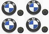 4 BMW Genuine BBS STYLE 5 Wheel Cap Emblem Decal E30 318i 325e M3 M5 OEM