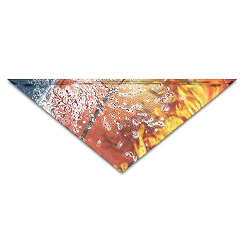 OLOSARO Dog Bandana Water and Fire Basketball Triangle Bibs Scarf Accessories for Dogs Cats Pets Animals -