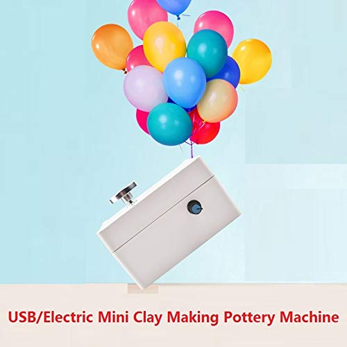 Clay Roller Machine - Pottery & Ceramics Tools - 1Set USB/Electric Mini Clay Making Pottery Machine Mud Machine Tools Skincolor Hot Air Gun Manual DIY Accessories Art Quality - by Unknown - 1 PCs