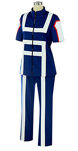 COSKING Izuku Midoriya Training Suits, Deluxe My Hero Academia Gymnastics Uniforms Cosplay Costume Outfit (Large)