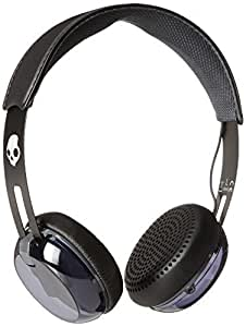 Skullcandy Grind On-Ear Headphones with TapTech Playback Remote - Black/Grey by Skullcandy