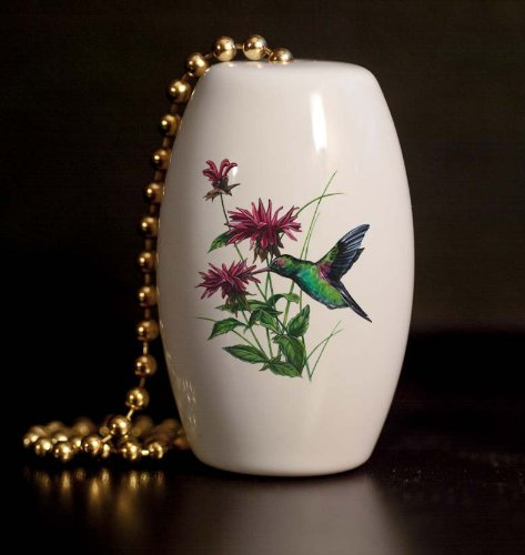 Hummingbird Porcelain Fan / Light - Porcelain Light Ceiling