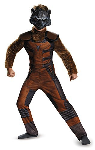 Disguise Marvel Guardians of The Galaxy Rocket Raccoon Deluxe Boys Costume, One Color, 4-6X