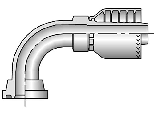 Parker 11971-16-16 SAE Elbow 1 IN Code 61 Flange X 1 IN Hose Steel