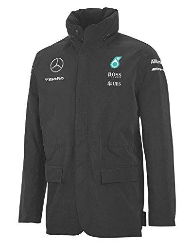 Amazon Com Mercedes Amg Team Rain Jacket 2015 S Black Sports