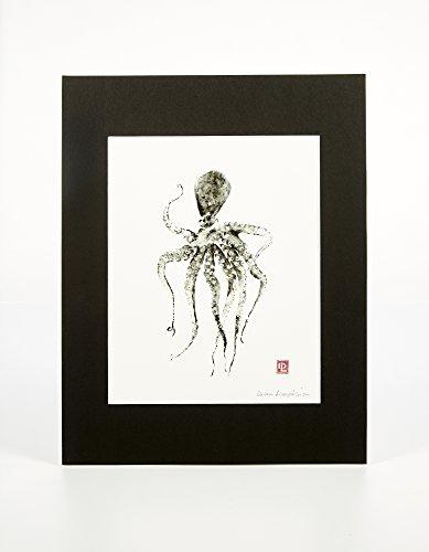 Art Signed Matted Print - Matted Gyotaku Art Print: