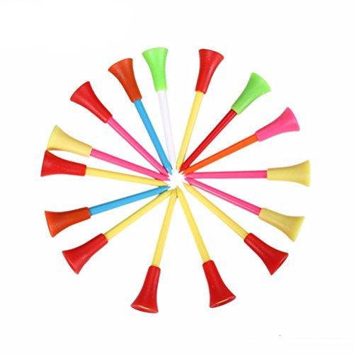 Suriel(TM) 50 Pack Multi Color Plastic Golf Tees 83mm Rubber Cushion Top Golf Tee