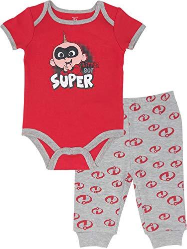 Disney Pixar Incredibles Jack-Jack Baby Boys' Bodysuit & Pants Outfit Clothing Set, 6-9 Months -