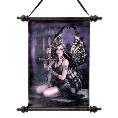 Design Toscano Lost Love Gothic Fairy Canvas Wall Scroll Tapestry