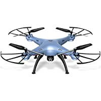 TM USA Syma X5HW Wifi FPV Drone with HD Camera Live Video Altitude Hold 2.4Ghz 4CH RC Quadcopter Blue