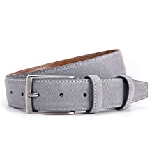 Ground Mind Extra Thickness Suede Leather Belt for Men