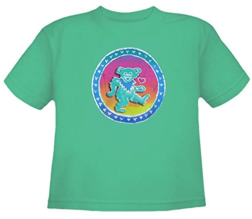 Grateful Dead Youth Dancing Bear T Shirt by Dye The Sky (X-Small) Green