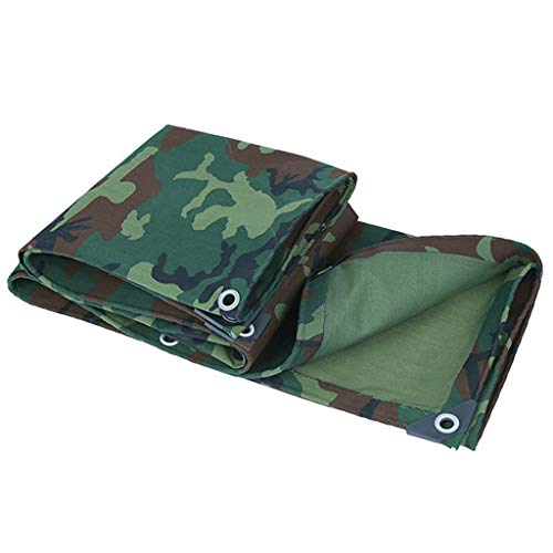 JLDNC Heavy Duty Waterproof Camouflage Tarp, 30 Mil/08mm Thick Camouflage Tarpaulin Cover with Grommets,21 oz per Square Yard Canvas Tarpaulin/Multi-Purpose,4x7m