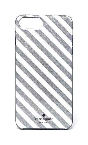 wholesale dealer 84162 2e7c8 Kate Spade New York Diagonal Stripe Protective Rubber Case For iPhone 7  Plus & iPhone 6 Plus - Silver Glitter/Cream/Navy