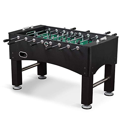 EastPoint Sports League Pro Foosball Table Game - 56 inches - Hollow Steel Player Rods, Bead Style Scoring, and Includes 2 Foosball Balls
