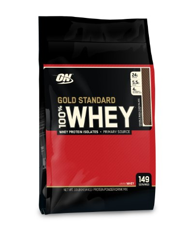 Optimum Nutrition 100% Whey Gold Standard, Double Rich Chocolate, 10 Pounds Sacs, emballages peuvent différer