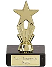 Trophy Micro Gold Star 9 cm Free engraved message up to 45 letters