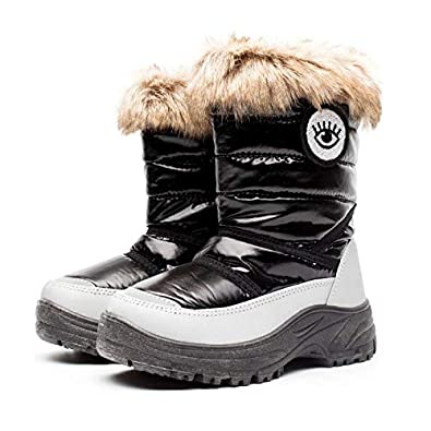 891b54210663 Drka boy and girl toddler snow boots with fur lined waterproof and non slip winter  boots
