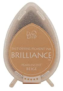 Tsukineko Brilliance Dew Drop Inkpad, Pearlescent Beige