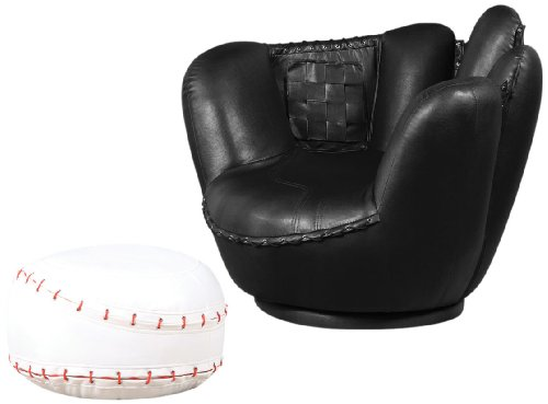 ACME 05522A 2-Piece All Star Set Chair and Ottoman, Baseball