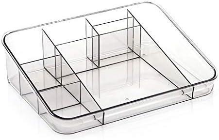 化粧品収納ボックス 家庭用化粧品収納ボックス分類棚スキンケア口紅収納ボックスプラスチックブラウンブラック透明ピンク SPFOZ (Color : Black)