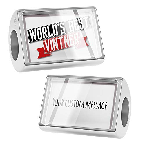 NEONBLOND Custom Charm Worlds Best Vintner 925 Sterling Silver Bead