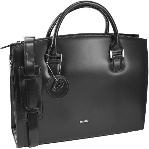 Handbag 36 Leather Cm Messenger Berlin Picard Black Bag gTHXnnfqW