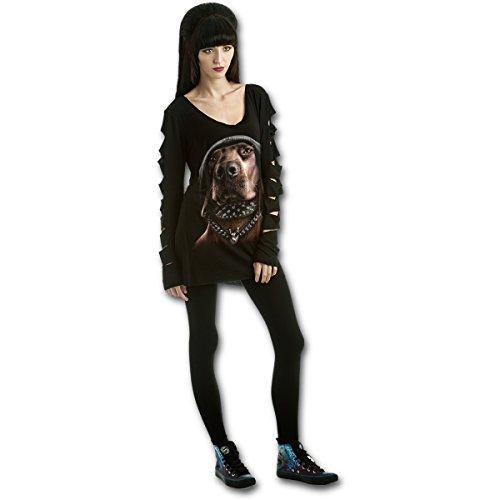 Spiral Damen Lamarmshirt schwarz schwarz Gr. L, schwarz